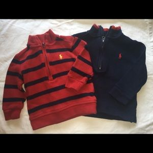 Two Boys Ralph Lauren 1/4 zip sweaters - 9 months